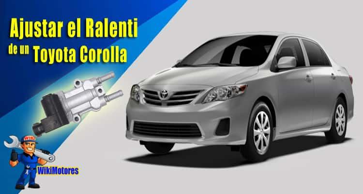 justar el Ralenti en un Toyota Corolla 1